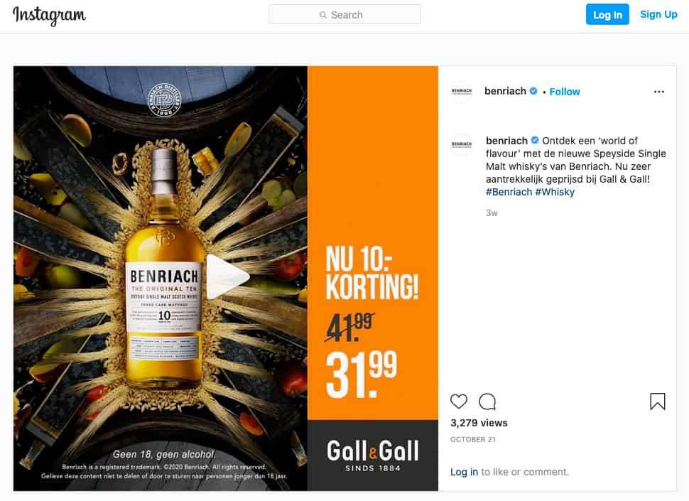 Benriach_Instagram_marketing